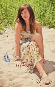 Ramona Stöckli wirbt für Balance Water