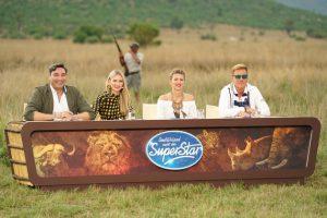 Die Jury (v.l.) Mousse T., Carolin Niemczyk, Ella Endlich und Dieter Bohlen beim Auslandsrecall in Südafrika.